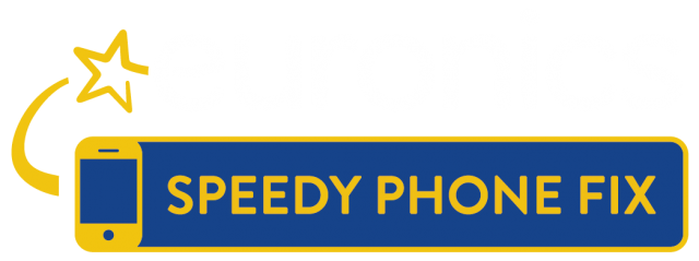 speedy phone fix logotyp vit