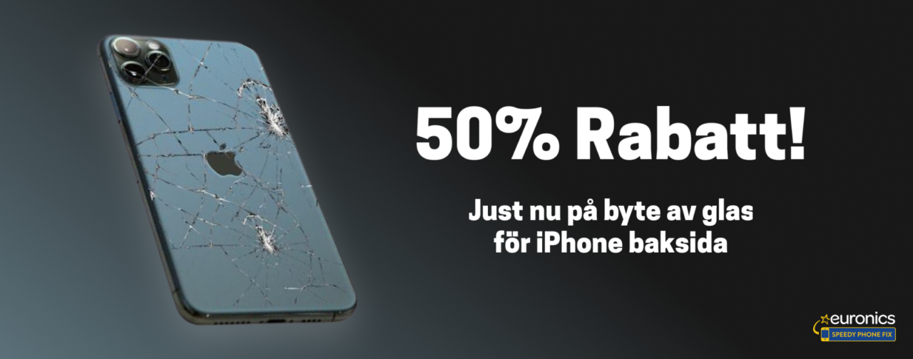 byta glas baksida iphone
